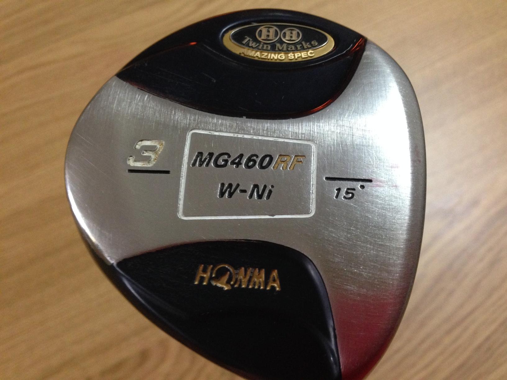 HONMA製 Twin Marks MG460 RF W-Ni 15° ARMRQ 851 純正カバー付き